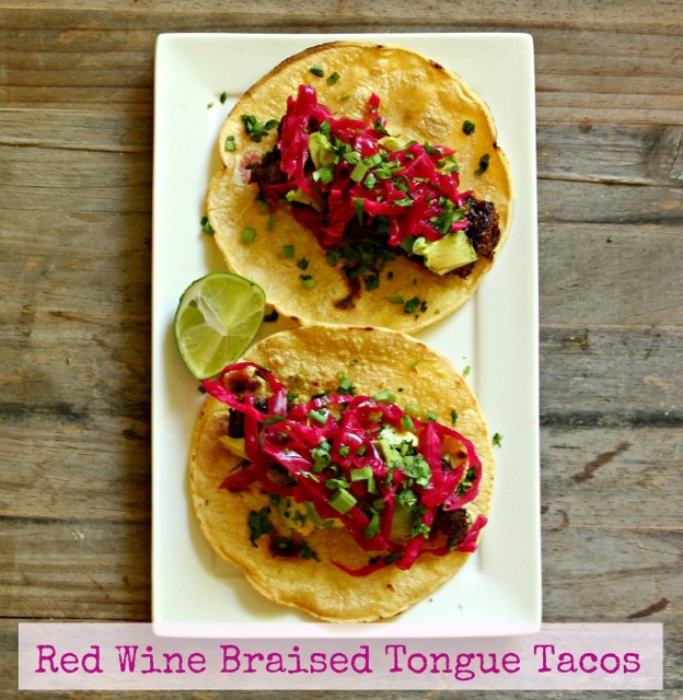 Red Wine Braised Beef Tongue Tacos- Mexican meets Jewish cuisine! With ...