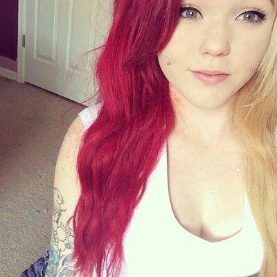 half red half blonde hair cute movies teens