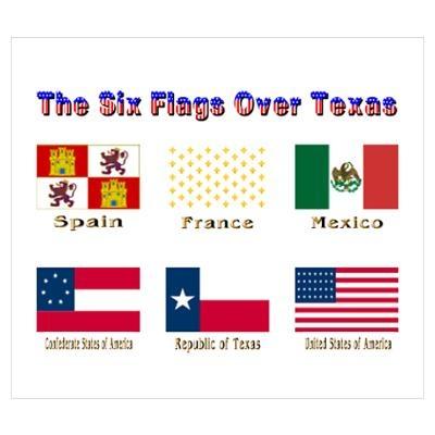 6 texas flags