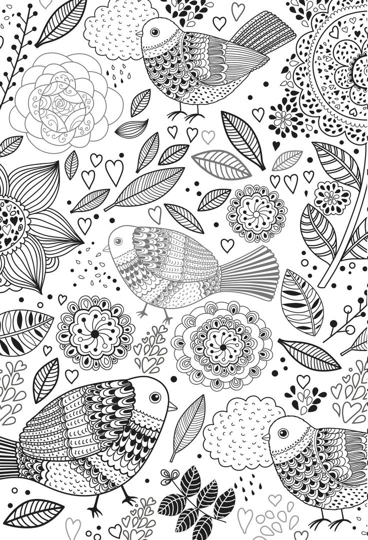 Printable Design Coloring Pages for Adults and Teens