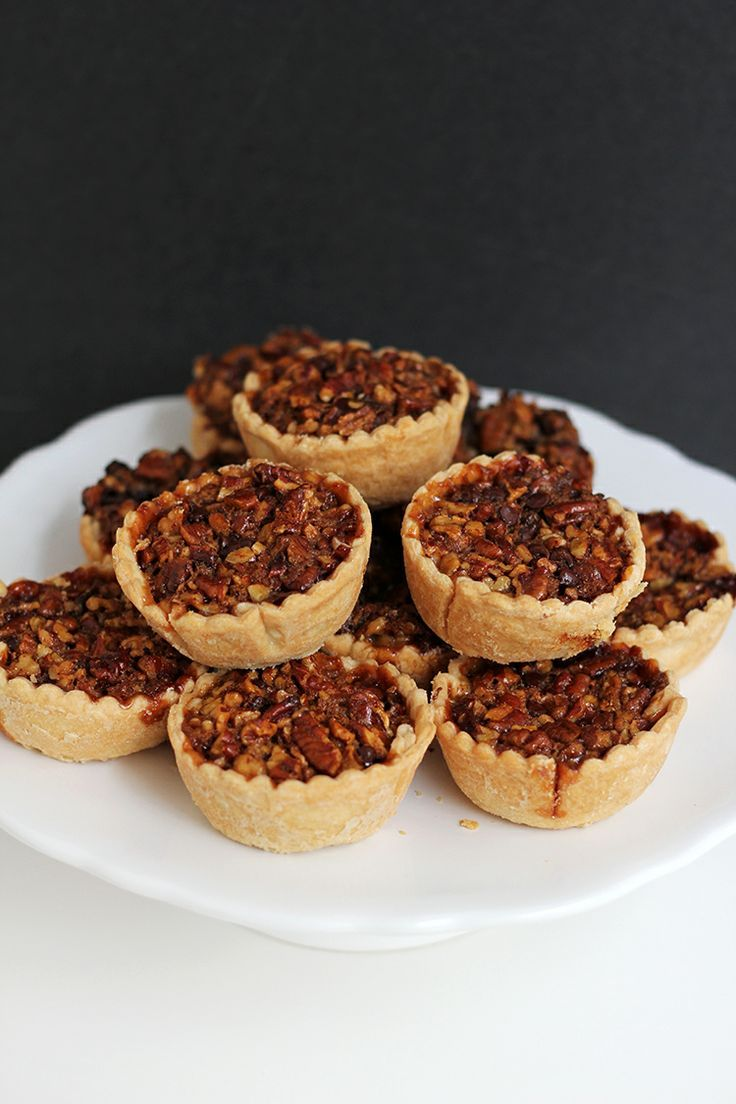 Mini Bourbon Chocolate Pecan Pies 1 Mini Bourbon Chocolate Pecan Pies.