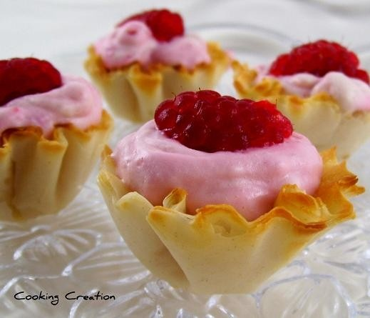 White Chocolate Raspberry Mousse | Food / Puff Pastry | Pinterest