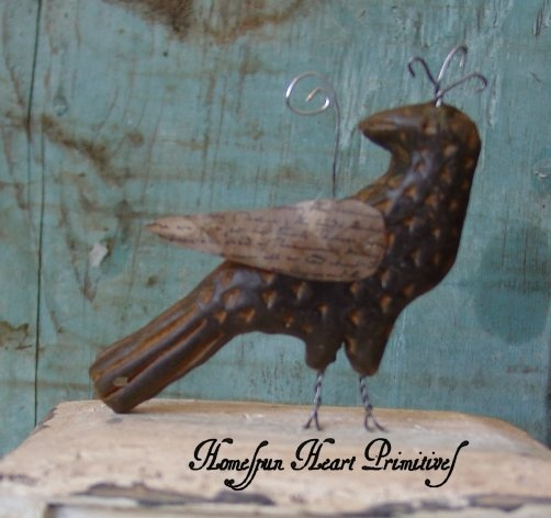 Fraktur Bird | Homespun Heart Primitives Spring | Pinterest