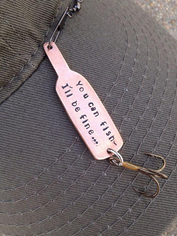 Custom wine bottle fishing lure personalized for boyfriend for Personalized fishing lure