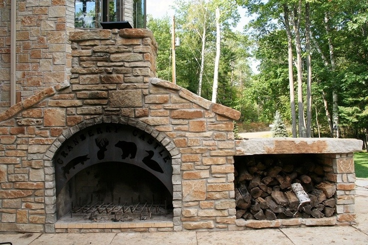 Outdoor fireplace diy home pinterest - Houses outdoor fireplace ...