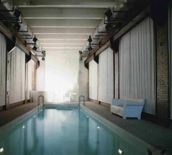 Indoor pool at SoHo Factory Turned Family Home for movie director Marcus Nispel