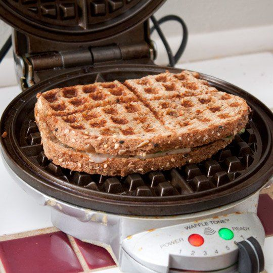 How to make grilled sandwiches in a waffle maker