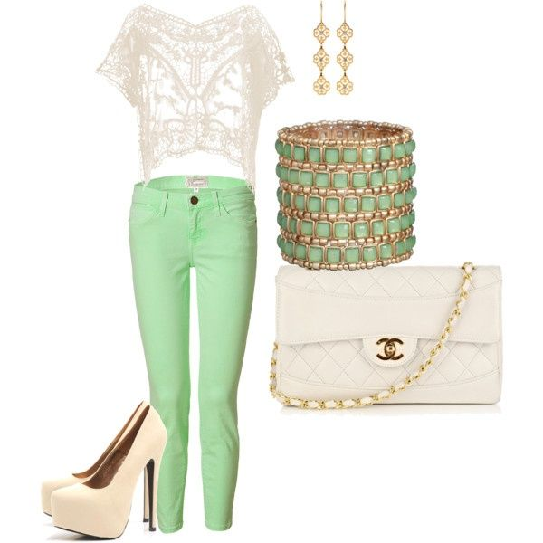 And I can't find mint green jeans anywhere...