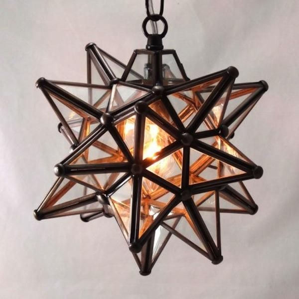 moravian clear star pendant light. Black Bedroom Furniture Sets. Home Design Ideas