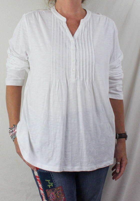LL Bean Shirt 2x Size New White Long Sleeve Womens Comfortable Shirt