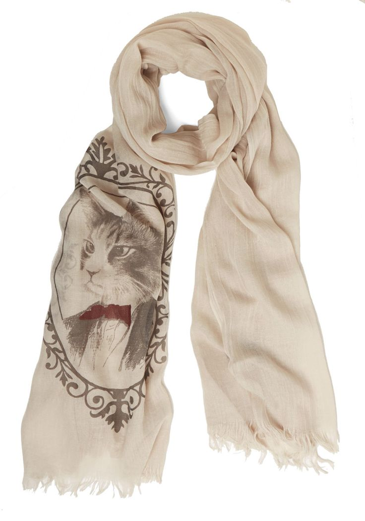 ModCloth Noted Purr-fessional Scarf
