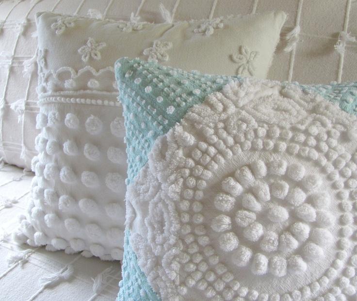 Белое марочное крышку подушки синели