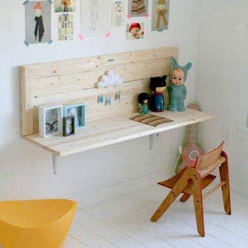 Un bureau fait avec une tag re deco maison pinterest - Etagere murale fait maison ...