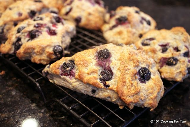 Low Fat Whole Wheat Blueberry Scones | Recipe