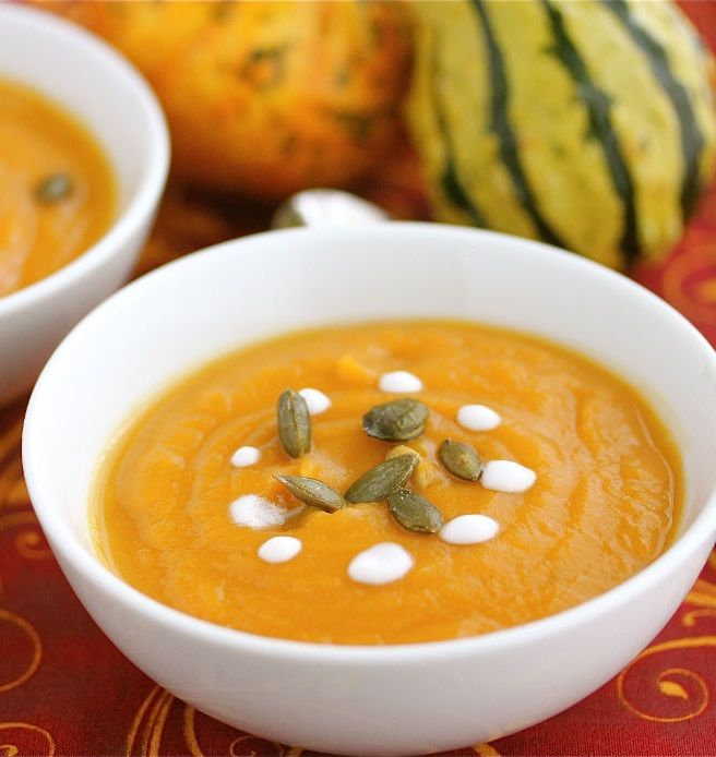 Carrot and Sweet Potato Soup - healthy comfort food for the fall ...
