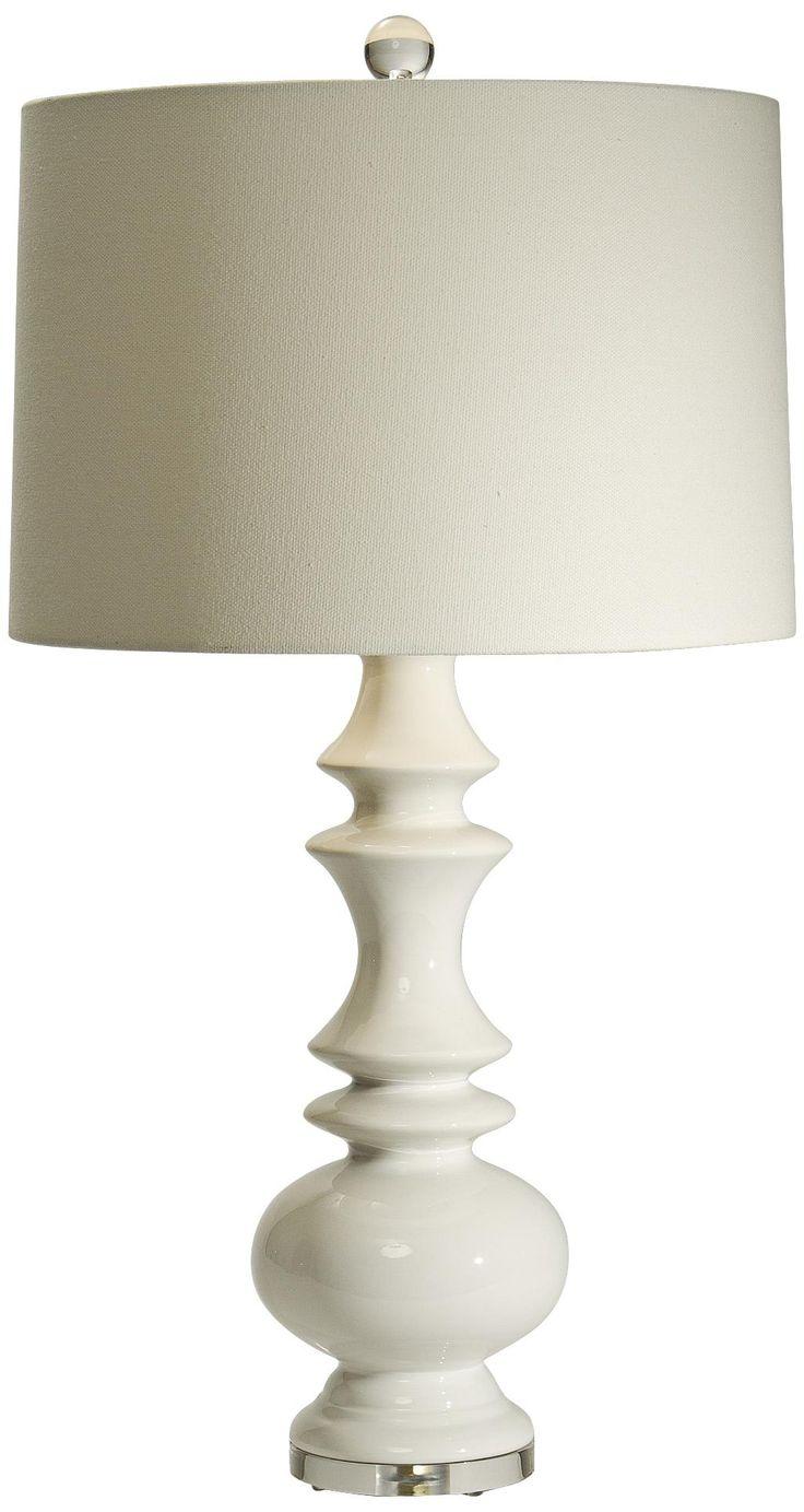 natural light remy white ceramic table lamp. Black Bedroom Furniture Sets. Home Design Ideas