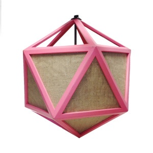 Pink Decahedron Pendant