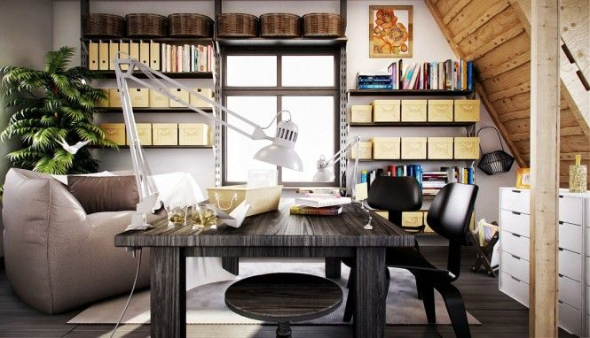 A creative home work space designed by Annkos