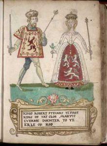 Euphemia de Ross (? - 1386). Queen of Scotland from 1371 to her death in 1386. She married Robert II and had five children.