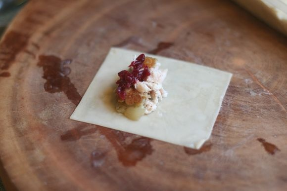Thanksgiving leftovers in wontons | edible | Pinterest