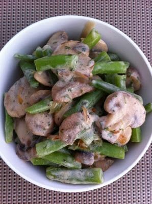 Creamy Green Beans and Mushrooms | Food & Drink | Pinterest