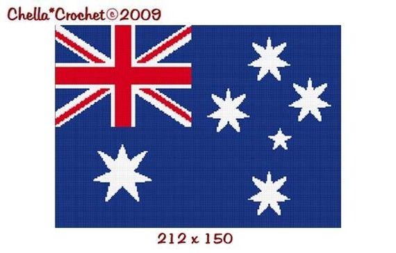 Crochet Stitches Us To Aus : Australia Australian Flag