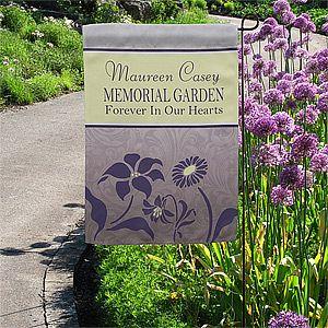 personalized memorial garden flags