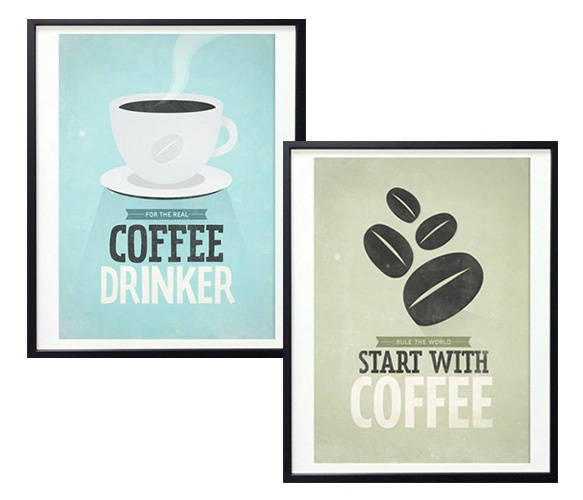 Retro-Style Coffee Prints.