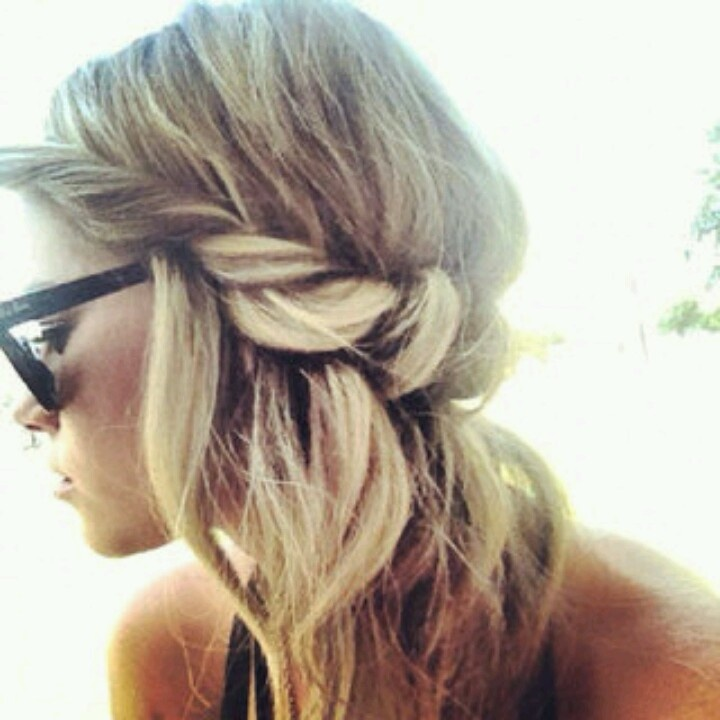 boho twisted headband halo Easy and fast hairstyles you can do! P ...