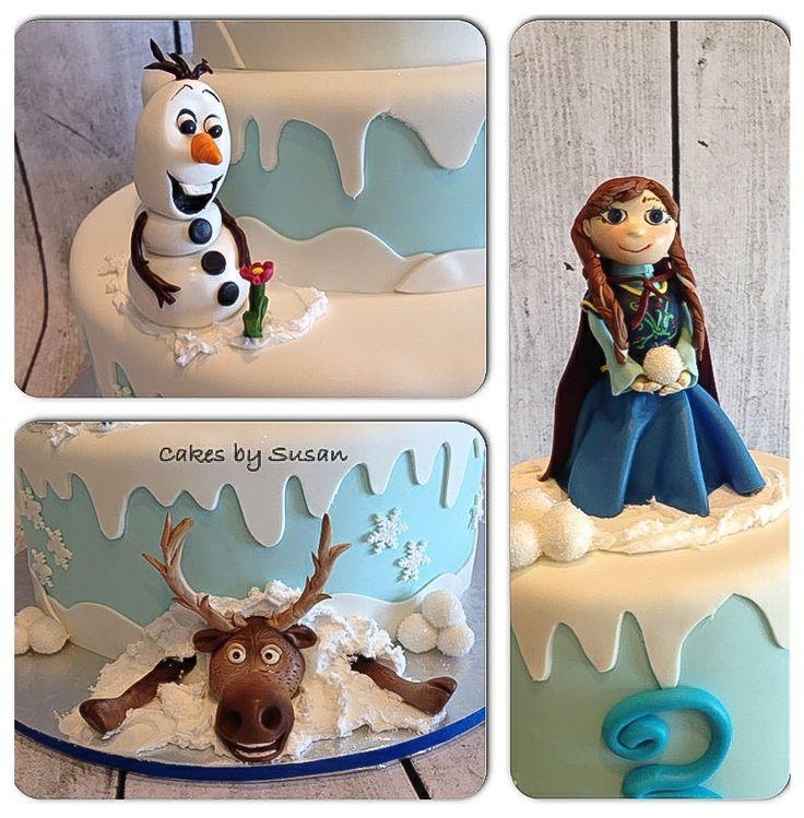 "Frozen"" the movie cake"