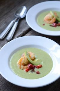 ... Recipe: Green Gazpacho with Fried Shrimp. Photo by Stephanie Meyer