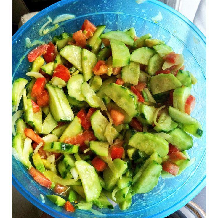 avocado cucumber & tomato salad | Terri's stuff | Pinterest