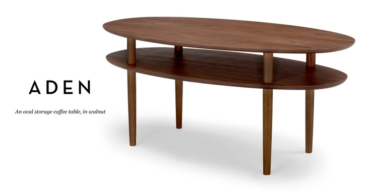 The double decker oval coffee table a tried and true favorite 163 199