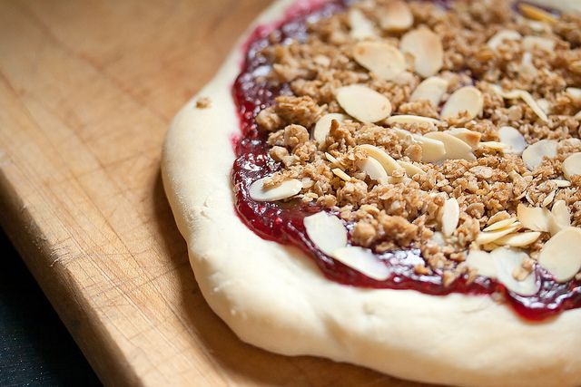 Raspberry Cobbler Pizza by Isabelle @ Crumb, via Flickr