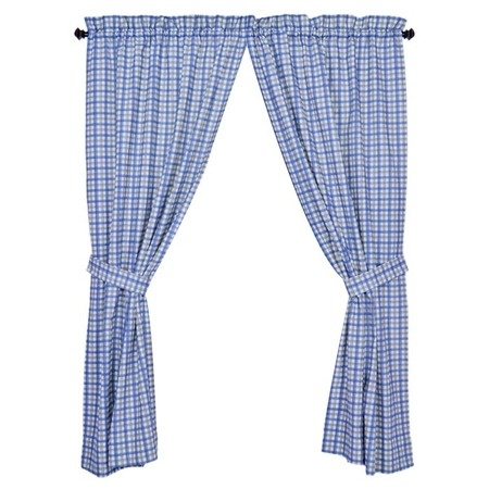 Blue Plaid Kitchen Curtains For The Home Pinterest