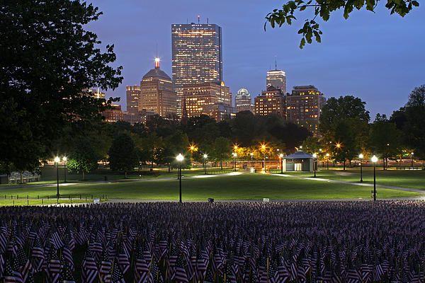 boston common memorial day flags