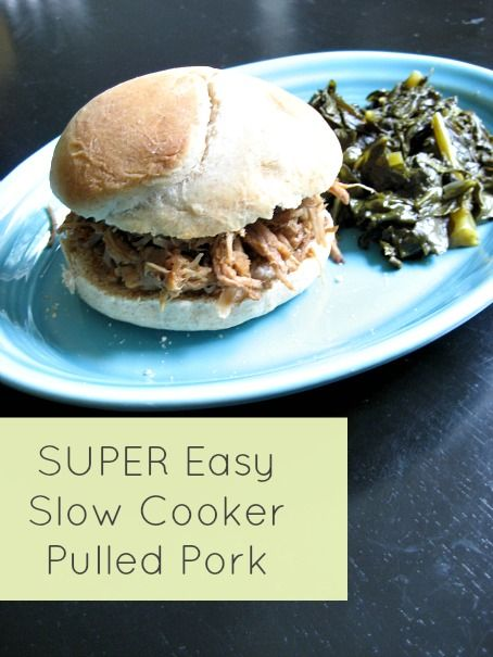 SUPER easy slow cooker pulled pork. Better than at my local BBQ ...