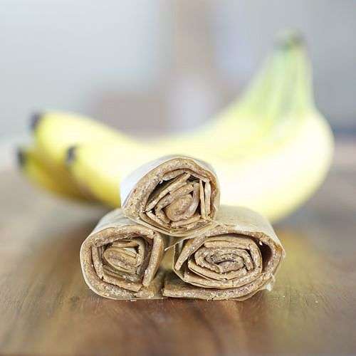 Peanut Butter Banana Leathers- 2 ingredients and 5 minutes to prep