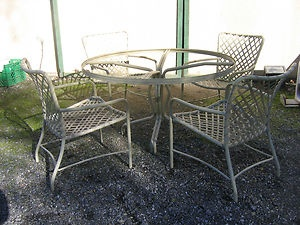 VINTAGE PATIO FURNITURE | Mid-Century-Modern-Vintage-Brown-Jordan