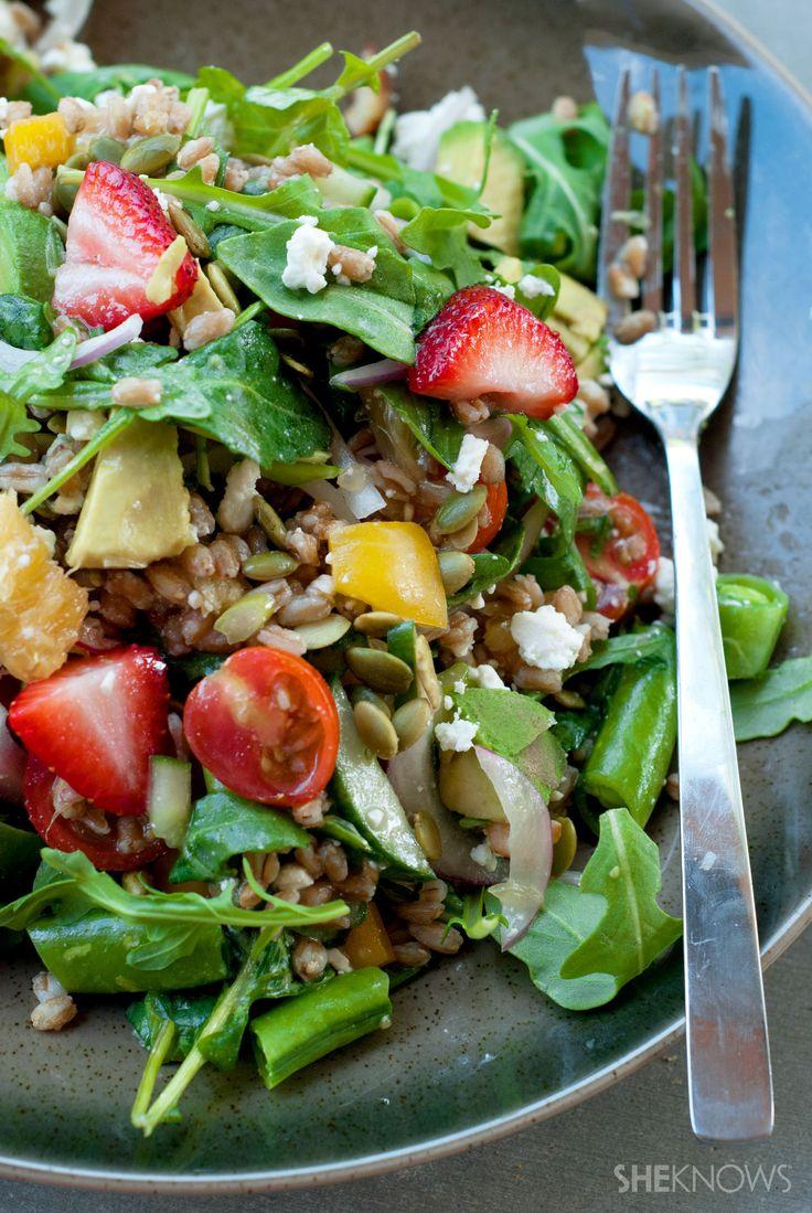 Fresh farmers market farro salad | Meals full of Color | Pinterest
