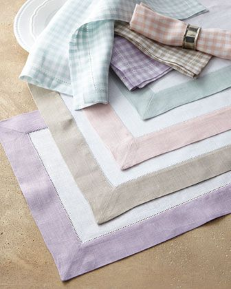 Colorblock & Gingham Table Linens by SFERRA at Horchow. | @ SOUTH