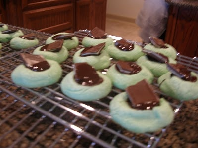 Chocolate Mint Thumbprints | Cookies and Bars | Pinterest