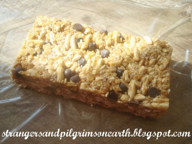 Chewy Chocolate Chip Granola Bars | Cooking - Desserts | Pinterest