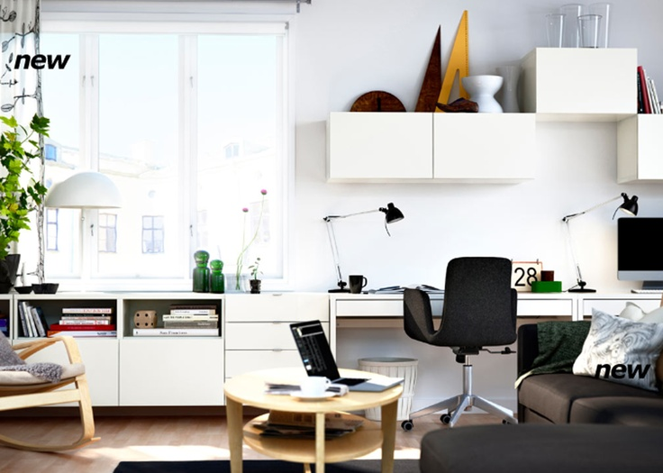 office storage ikea work spaces pinterest