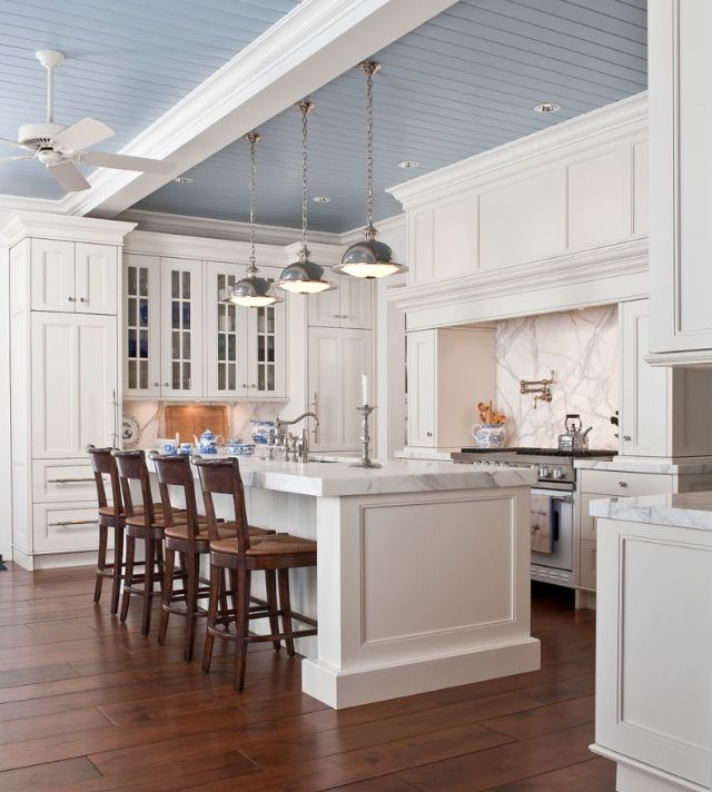 Blue Kitchen Ceiling: Blue Bead Board Ceiling