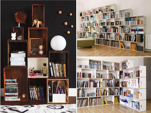 Fun homemade bookcase ideas kids pinterest for Homemade bookcase ideas
