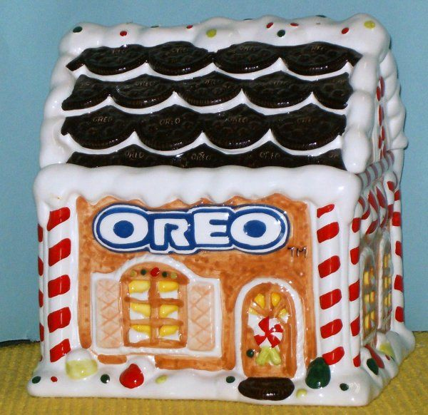 OREO GINGERBREAD HOUSE ADVERTISING COOKIE JAR, BY