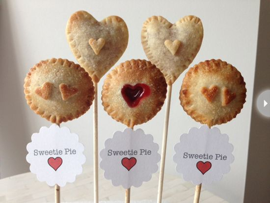 Heart-shaped pie pops