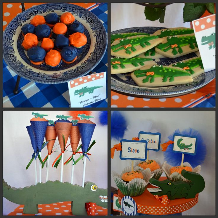 I know this is Gators, but great ideas for a football party