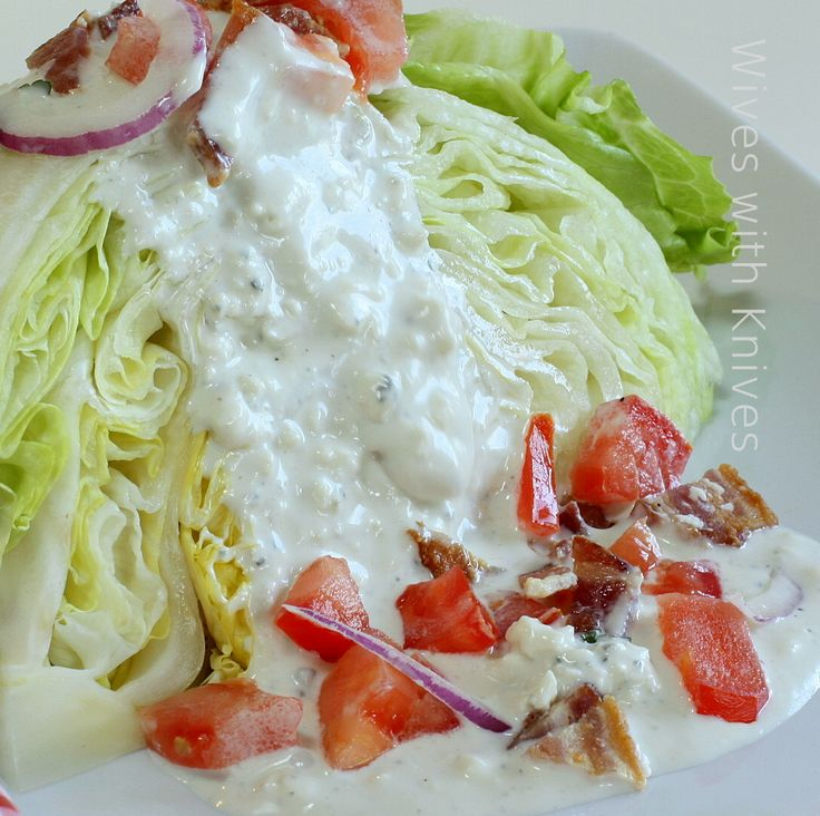 BLT Wedge Salad with Blue Cheese Dressing